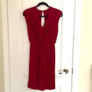NWT Femme red v-neck dress
